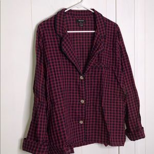 Madewell pijama long sleeve top
